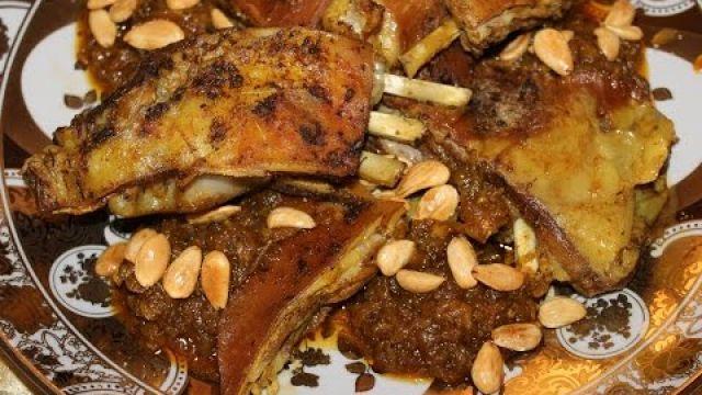 Tajine de viande M'hammer ..... طاجين اللحم المحمر المغربي