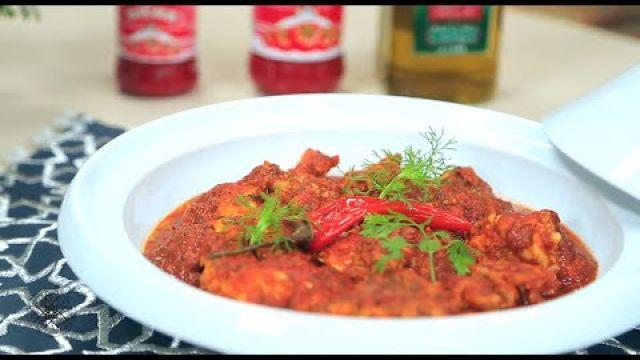 Cervelle Mecharmela à la sauce tomate |  مخ متبل بصلصة الطماطم